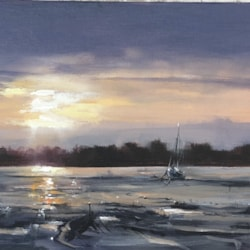 Sunrise at Thornham Marina