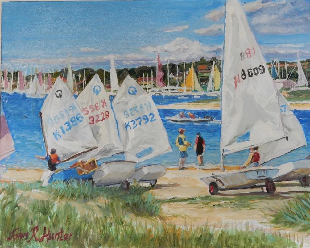 Young Sailors setting off Bembridge