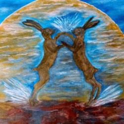Boxing in the moonlight. (Hare,s  to metallic a