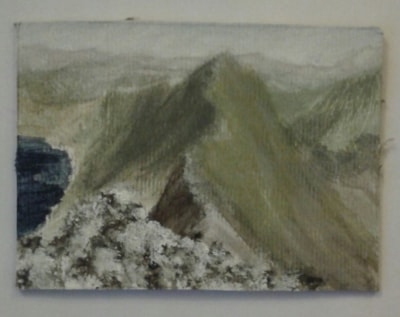 Striding edge 2.5 x3.5.. 1st go at miniature painting