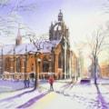 King's College Chapel in Winter