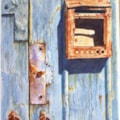 Rusty letterbox.