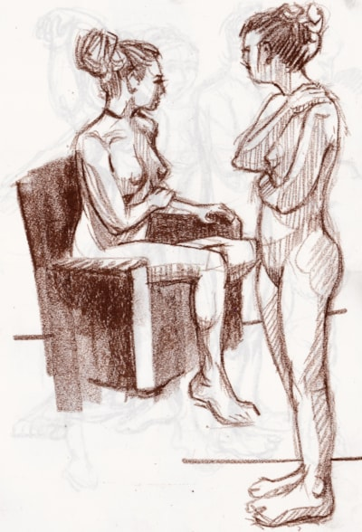Life drawing session.