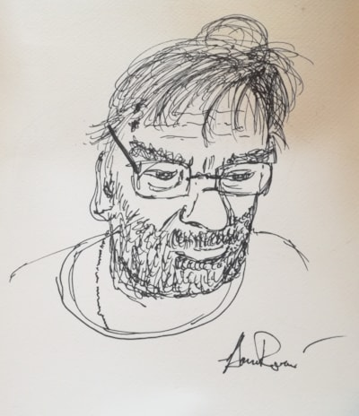 Portrait of myself by my son Aaron (quick sketch)