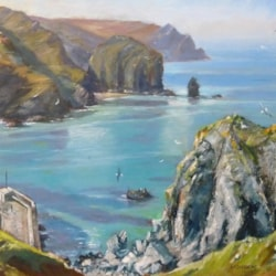 Low Tide at Mullion Cove, Cornwall.