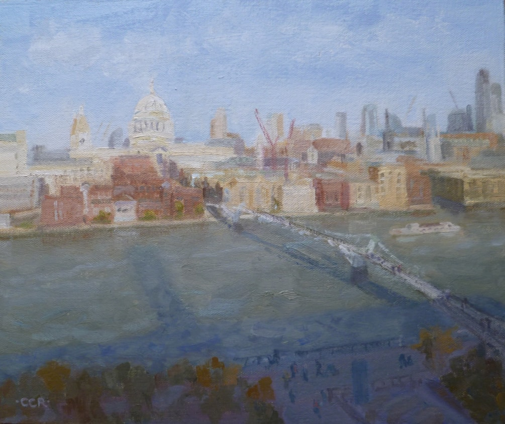 Shadow of the Tate Modern across the Thames