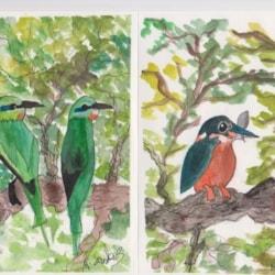 A Bird Themed Greeting Card