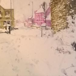 vue de la fenêtre, neige