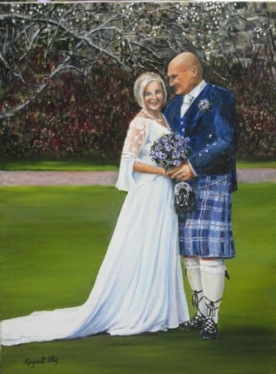 A commissioned wedding portrait