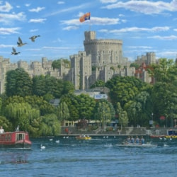 Windsor Castle from the River Thames