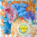 Summer Blooms, Blue Vase series © SOLD