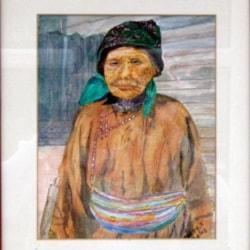 OLD ETHNIC WOMAN