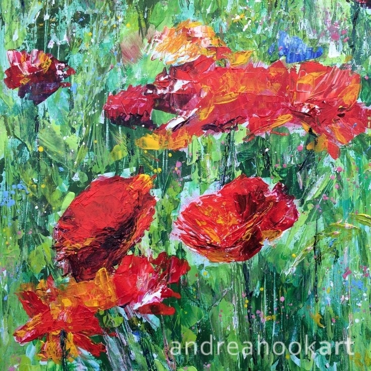 Blowsy Poppies - detail