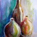 Stil life in oil pastels 2.