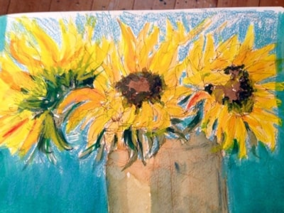 PRE SKETCH FOR SUNFLOWER PIC.