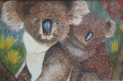 ON THE WILD SIDE OF AUSTRALIA.     KOALA FAMILY