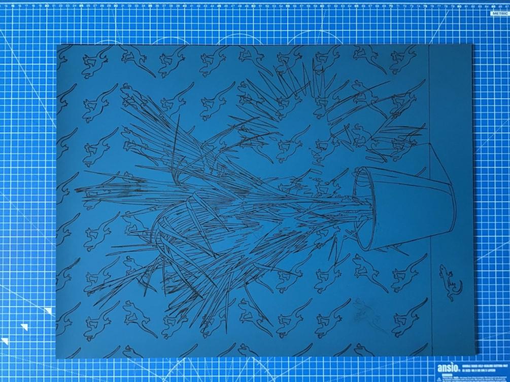 Work in progress - new lino reduction print