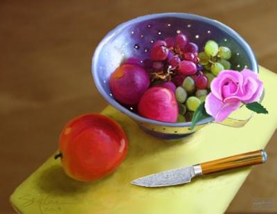 Prepping fruit