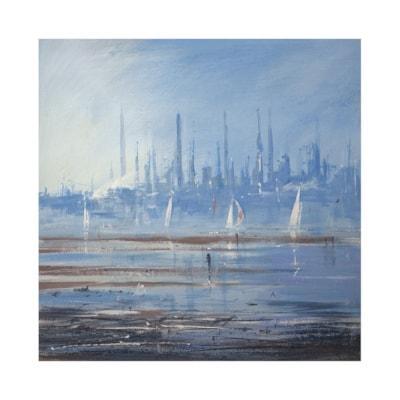 Low tide across the Solent