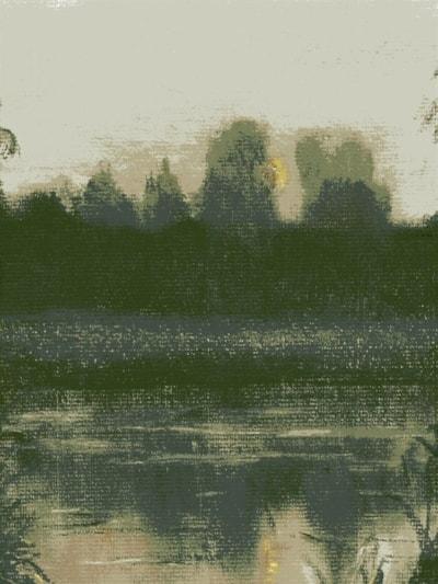 Dawn, on a Norfolk pond