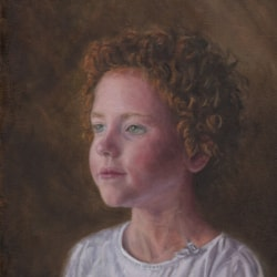 "Rosalind, aged 6.. 10x12"" Oil on canvas"