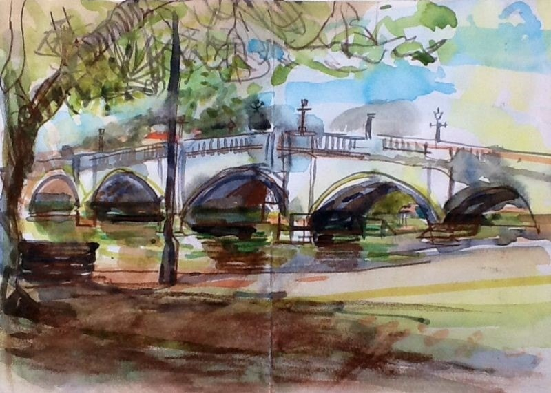 Sketch of Richmond Bridge
