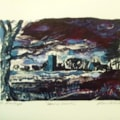 Monotype - Sandon Church from the West.