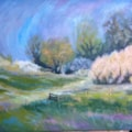 England spring : oil, 30x40cm canvas