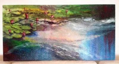 Waterlilies on Styrofoam (finished)