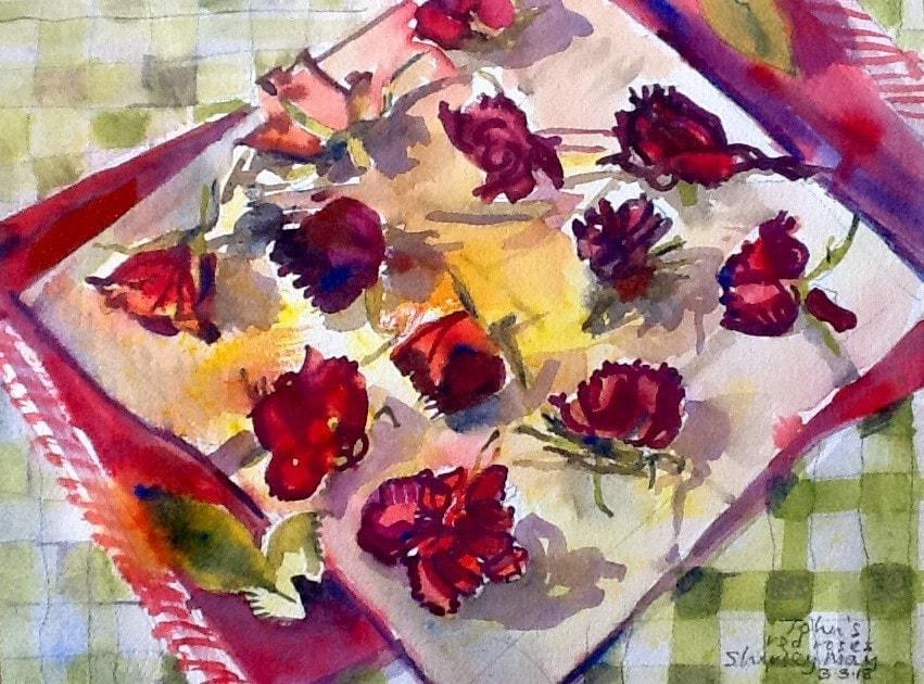 John's red roses