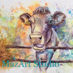 How Now Brown Cow ! - Watercolour