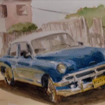 Blue Cuban Car