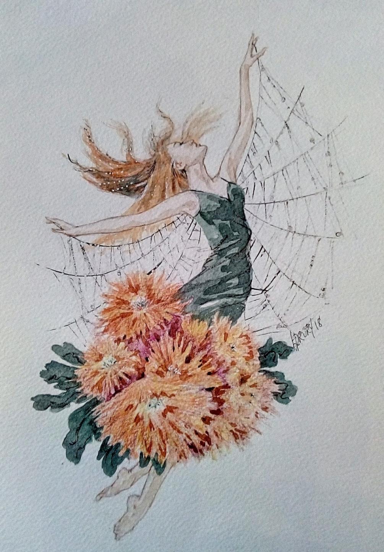 Spider chrysanthemum flower fairy