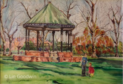 BAND STAND IN WINTER, RIVERSLEY PARK