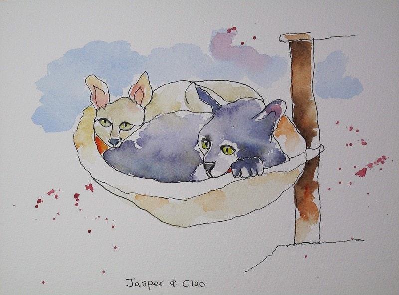 Jasper and Cleo (Upside Down One Liner)