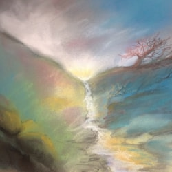 Early morning, mountain stream, well supposed to be :)) from imagination.