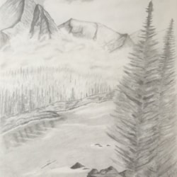 Misty mountains (tylers artshack tutorial)