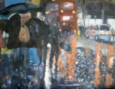 Oxford St in the Rain