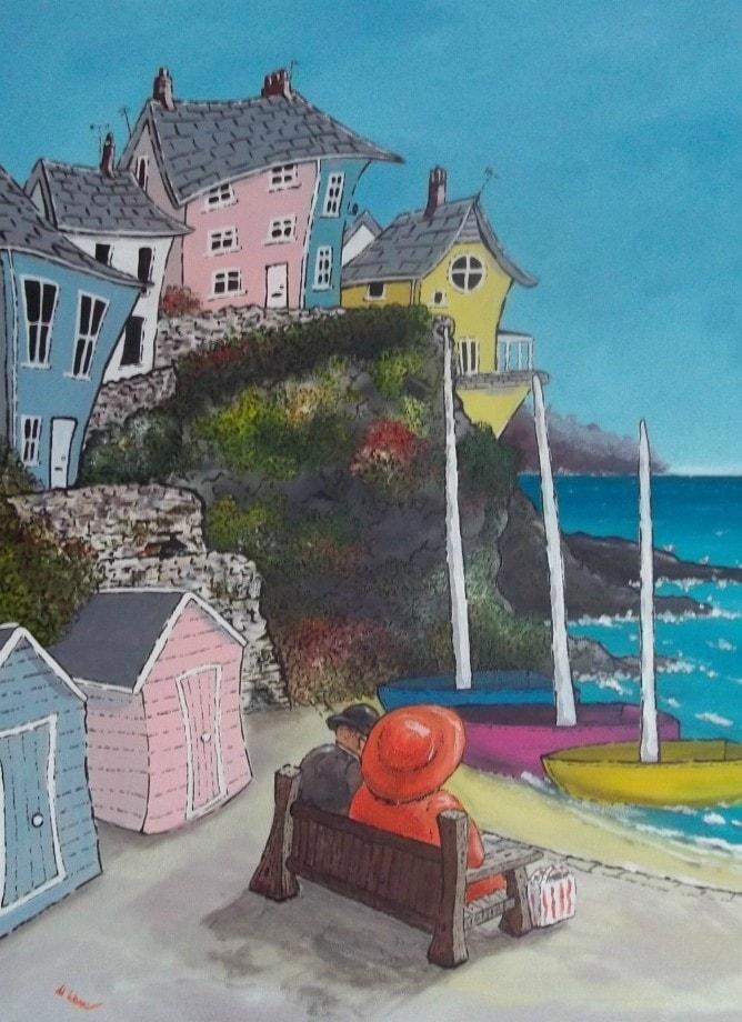 Eb & Flo 'Bay Watch'  Acrylic on Canvas