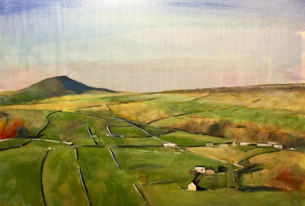 Shutlingsloe, ink on 18x24 inch canvas. My 32nd painting this month and the last of more than 250 over the course of 2018. Everyone have a Happy New Year and many thanks for all the likes and comments.