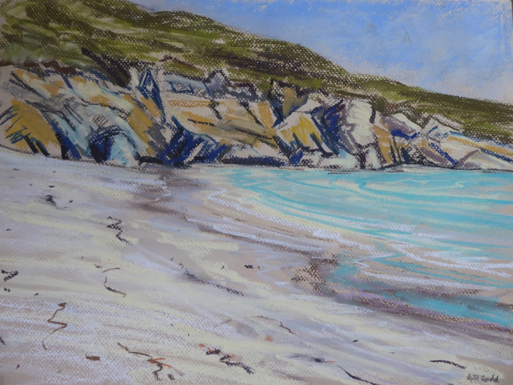 Rocks and Sparkling Sea, Vatersay Bay
