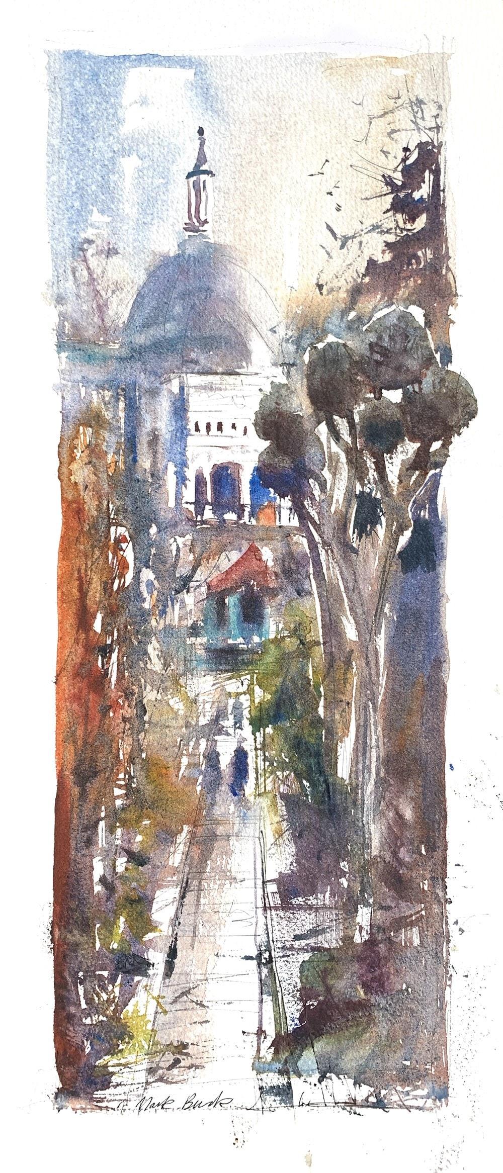 Portmeirion plein air watercolour
