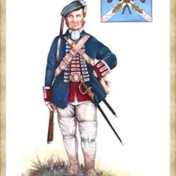 Fusillier 1st Battalion Royal Ecossais 1745