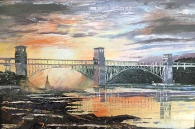 Britannia Bridge over the Menai Strait