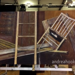 Les Mis school production - the barricade