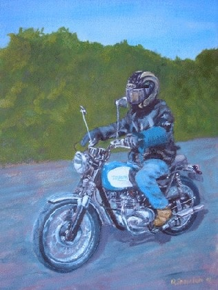 My mate Malc on his motorbike