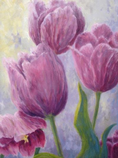 Tulips reaching for light