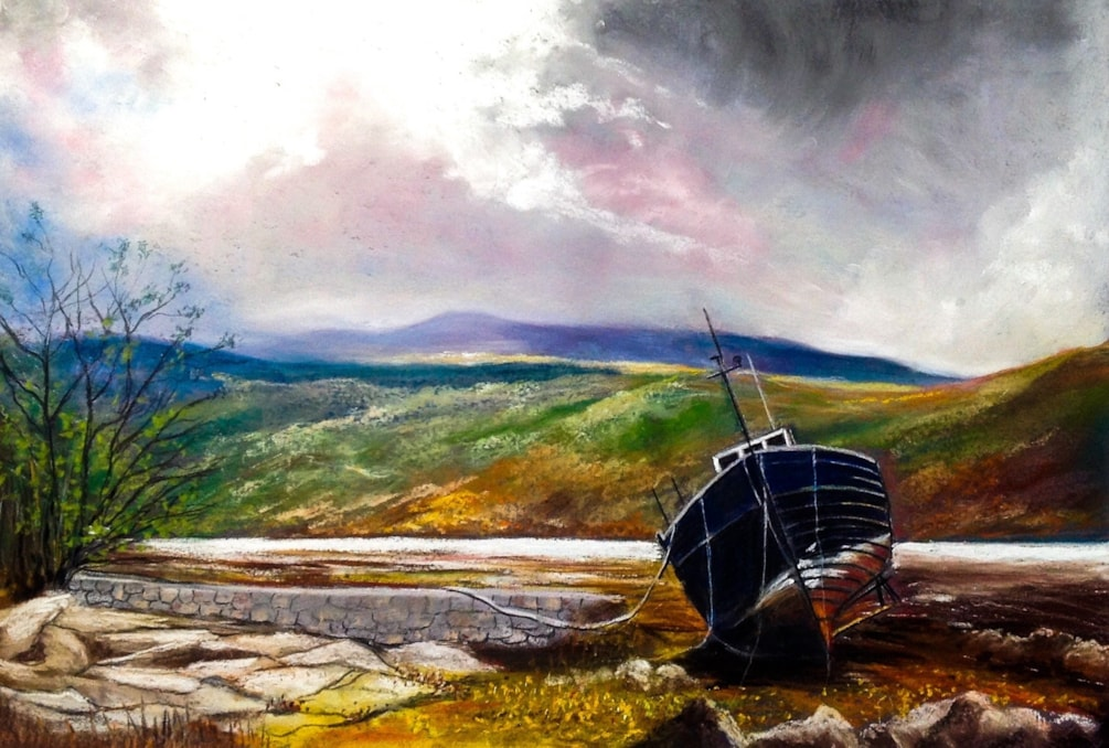 Boat  on the Northumbrian Borders