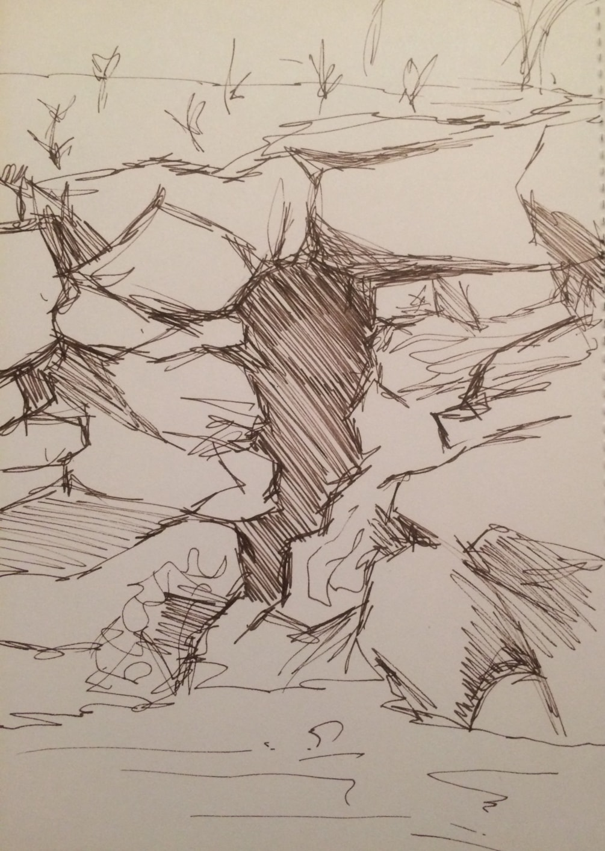 The Cave- pen sketch