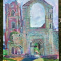 Fountains Abbey, Acrylic on Canvas, My Wildcard entry (as seen last night on Sky Landscape artist 2018), but not by me as I don't have Sky :(